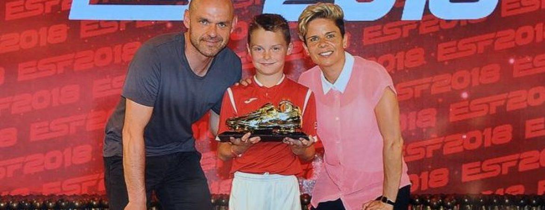 Logan wins Golden boot in E.S.F Tournament
