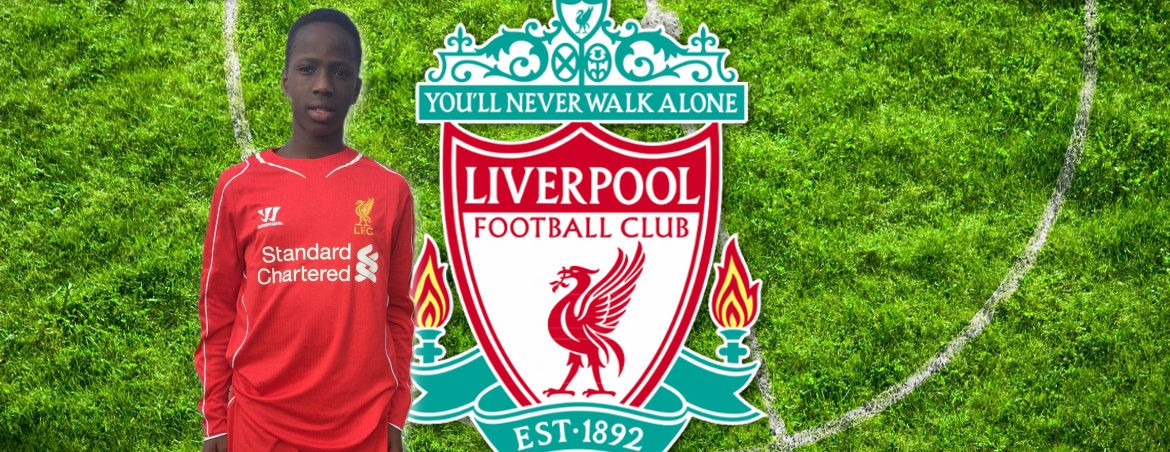 Emmanuel Trials with Liverpool FC